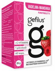 Gefilus Apteekkarin vadelma purutabletti X60 kpl