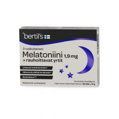 bertils Melatoniini 1,9 mg + yrtit 30 tabl